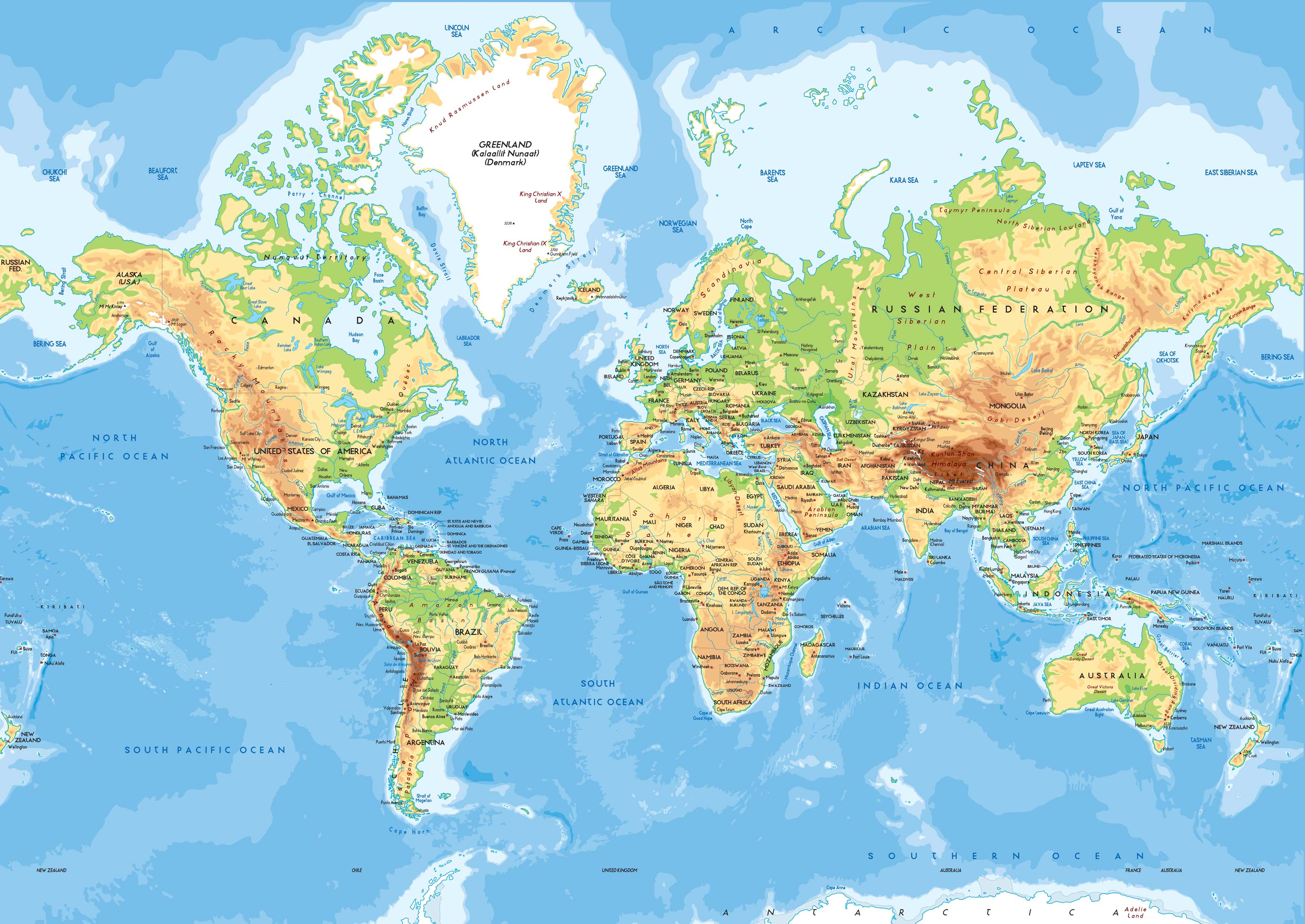 what is a physical map