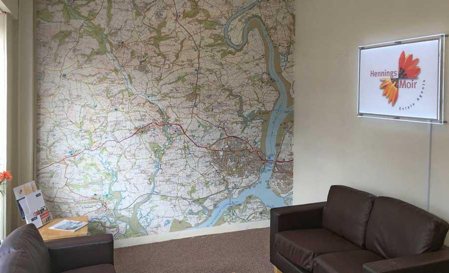 Map Wall Paper custom printed ordnance survey 1:25 000 wallpaper map