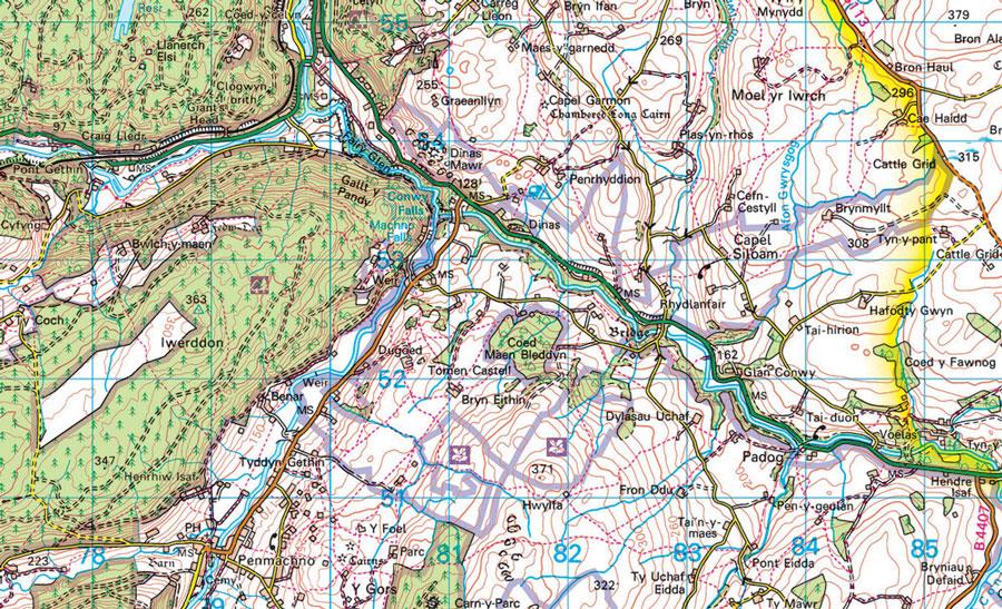 Custom Printed Ordnance Survey 1 50 000 Wallpaper Map