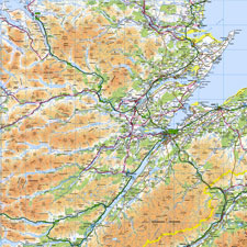 Ordnance Survey Regional Wallpaper Map