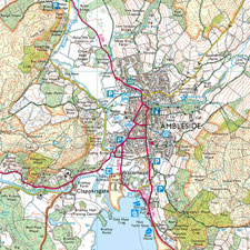 Ordnance Survey Explorer Wallpaper Map