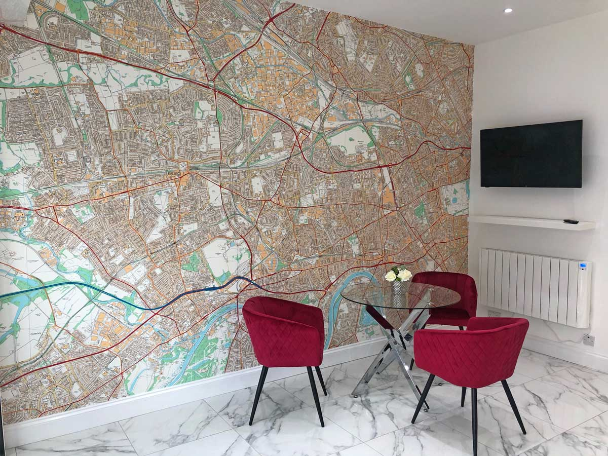 Ordnance Survey Detailed Local Map Mural - 1:10 000
