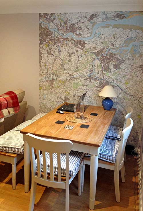 Joe Godding OS Landranger wallpaper map living room