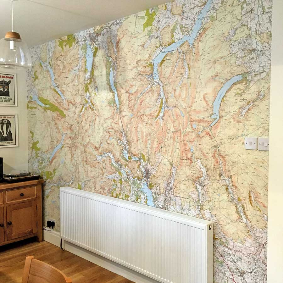 Lake District wallpaper map