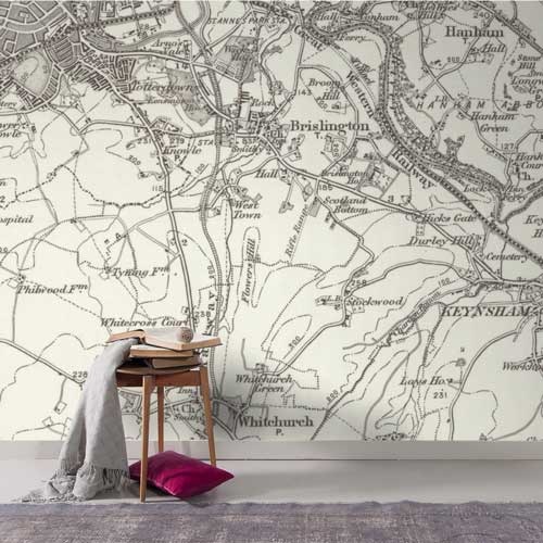 Historic OS One-Inch to the Mile Map Wallpaper