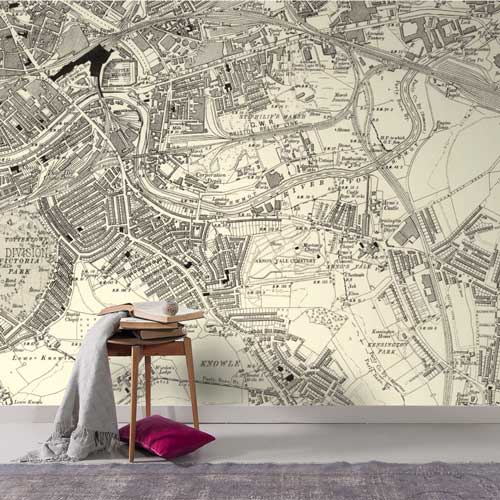 Historic OS Six-Inch to the Mile Map Wallpaper