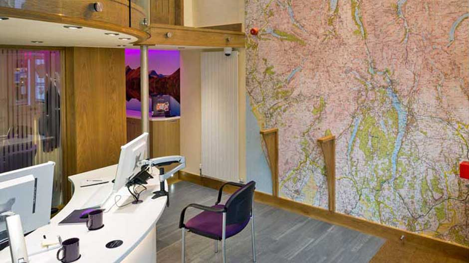 Wallpaper Mural Map - Lakelovers, Keswick