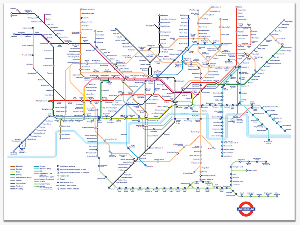london underground map courtesy david alan b interior design