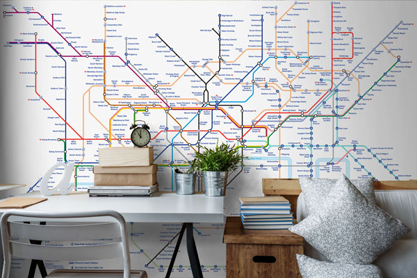 London Tube Map Wallpaper