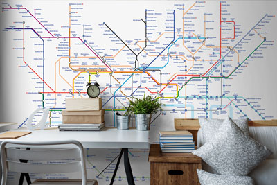London Underground Tube Wallpaper Map
