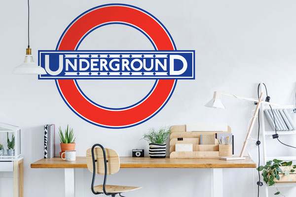 London Underground Historic Roundel Wallpaper Mural