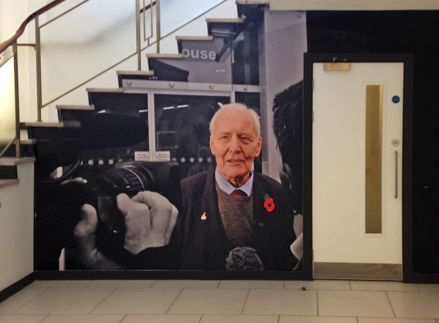 Tony Benn tribute wall mural - UNITE the Union