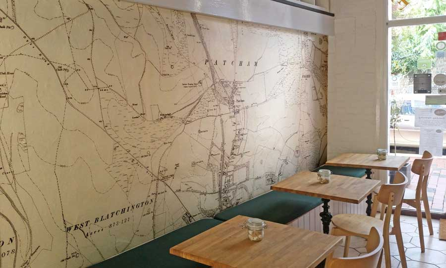 Miss Bean's Cakes - historic wallpaper map