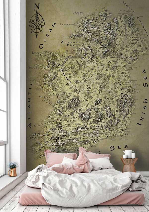 Ireland Fantasy Map LOTR Tolkien Wallpaper Mural