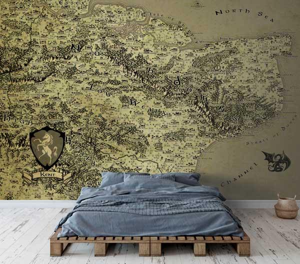 Kent Fantasy Map LOTR Tolkien Wallpaper Mural
