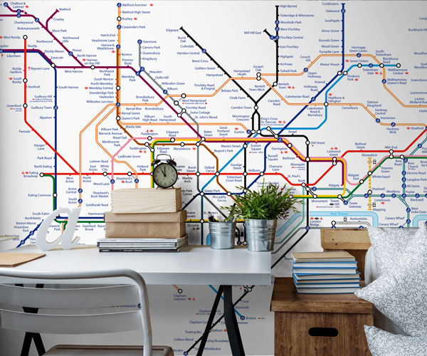 London Tube Map Wallpaper Mural