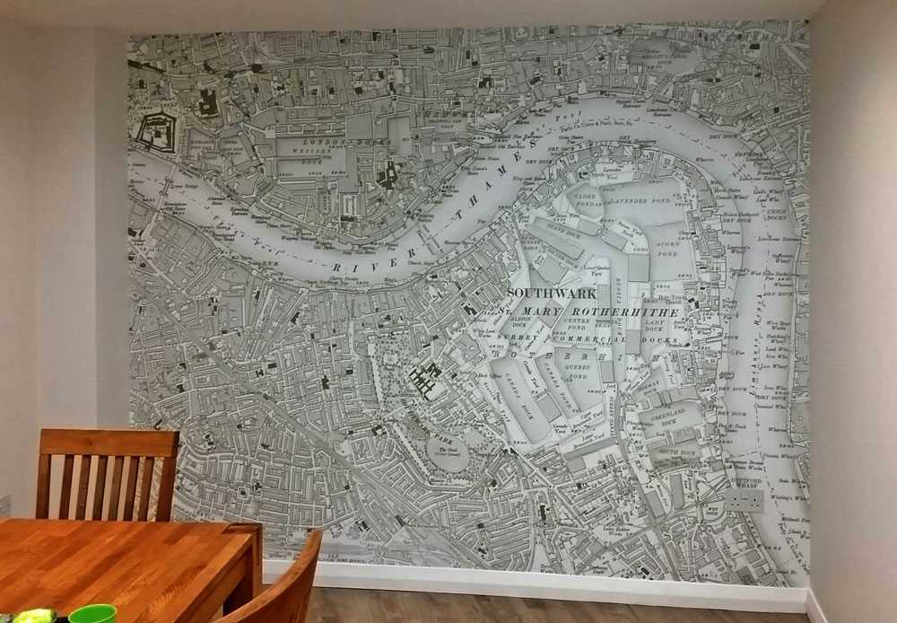 Ordnance Survey Six-Inch to the Mile Wallpaper Map