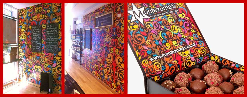 Wall mural - Montezuma's innovative British chocolate