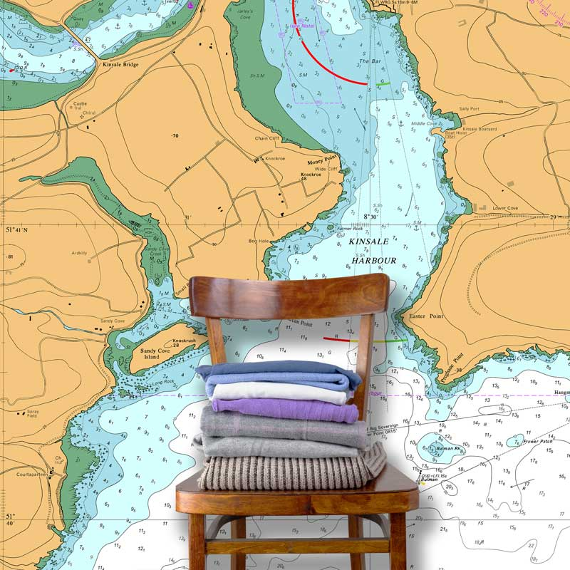 Admiralty Standard Nautical Chart Wallpaper Mural