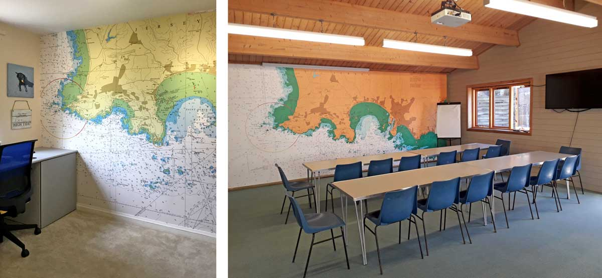 nautical chart mural for school
