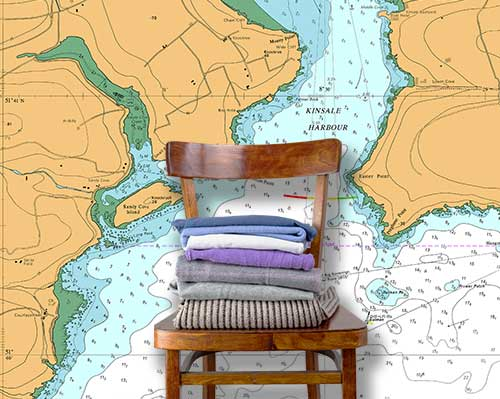 Coastal Charts Wallpaper Murals
