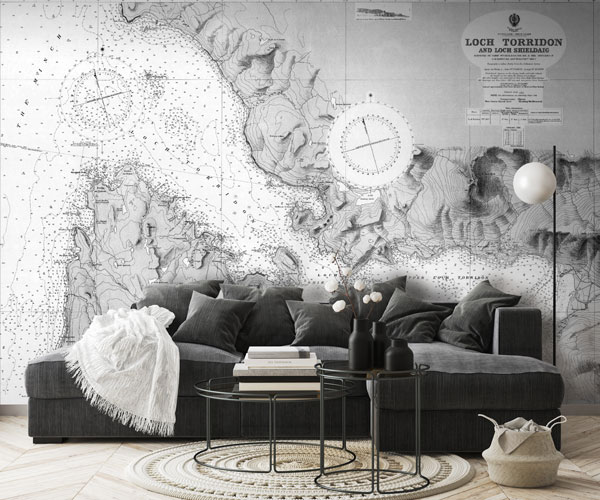Nautical Chart Murals