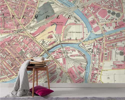 Ordnance Survey Historic Map Wallpaper