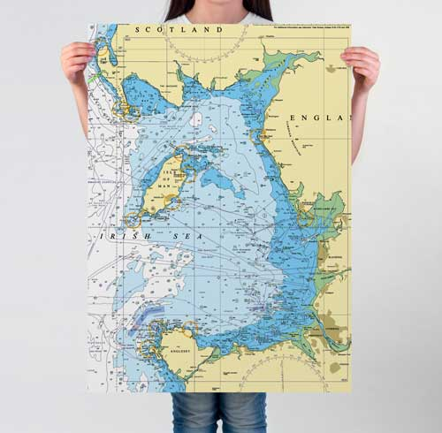 Nautical Charts Poster Prints