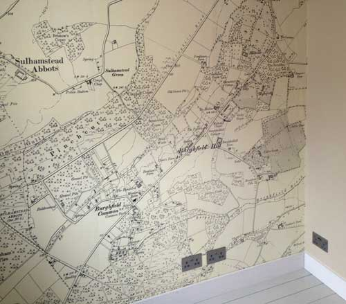 historic wallpaper map
