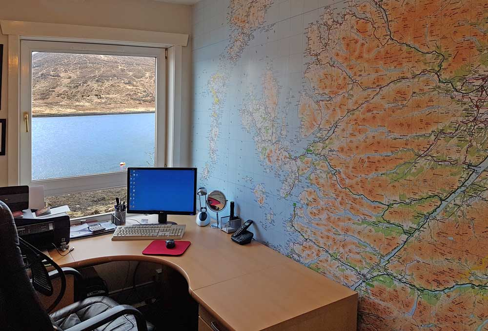 Stuart Brumpton isle of Skye Wallpaper Map