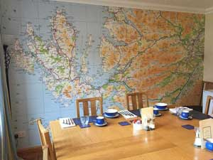 Custom Printed Wallpaper Map Murals