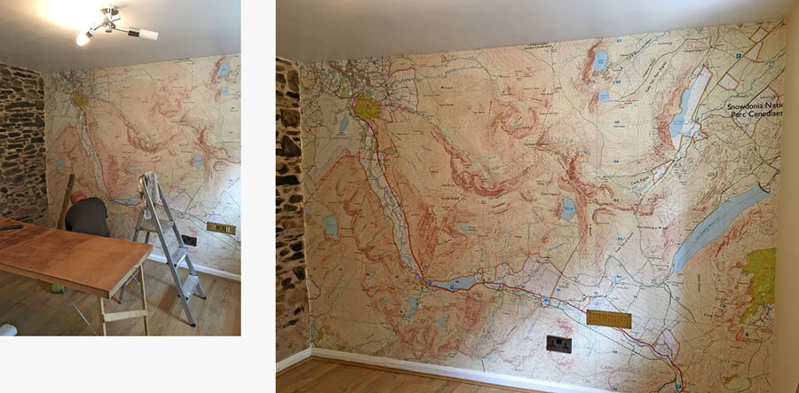 Transform Your Wall With A Custom Wall Mural - Us wall map where you put your pictures on