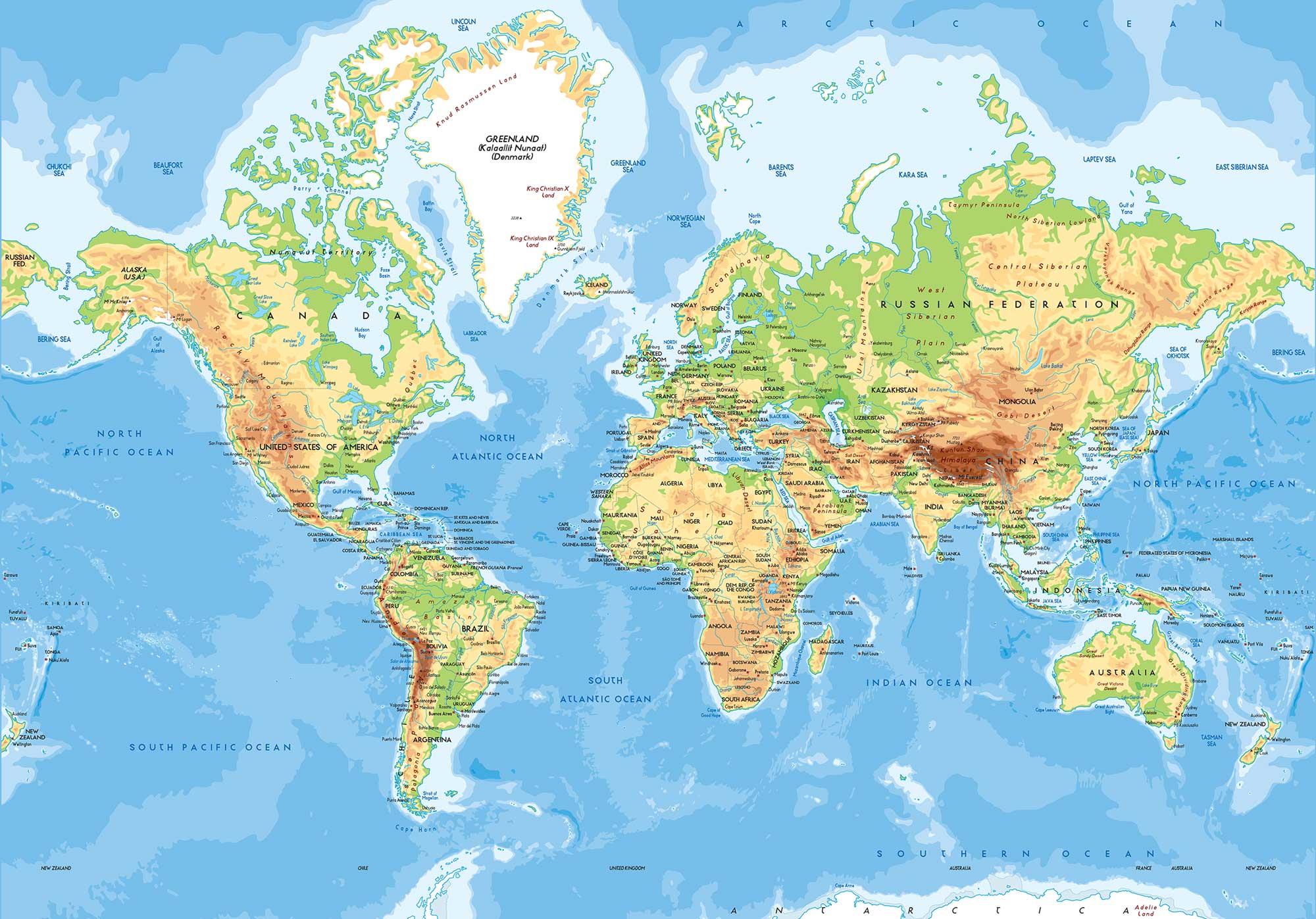 World Map Poster Print
